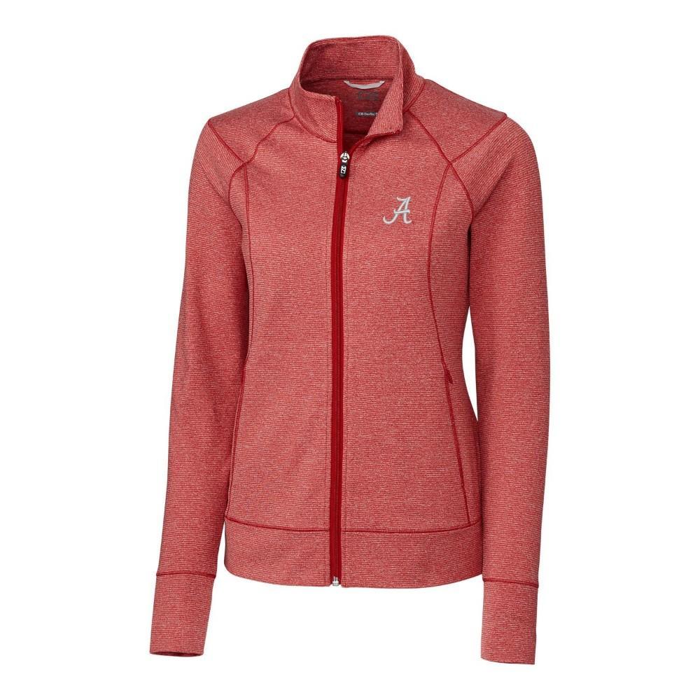 Alabama Cutter & Buck Women's Shoreline Full Zip Jacket