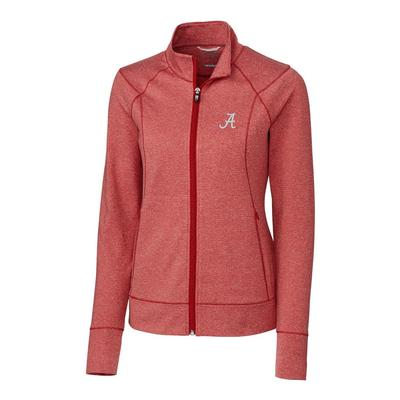 Alabama Cutter & Buck Women's Shoreline Full Zip Jacket