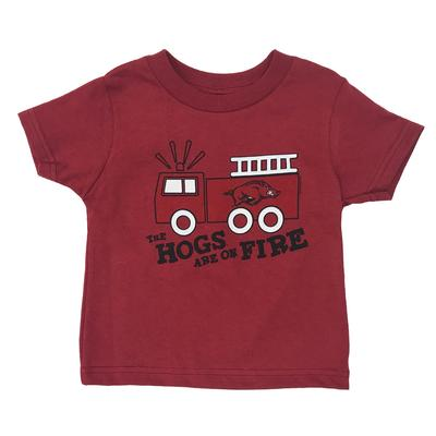 Arkansas Toddler Hogs On Fire Tee