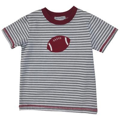 Grey And Cardinal Toddler Football Tee