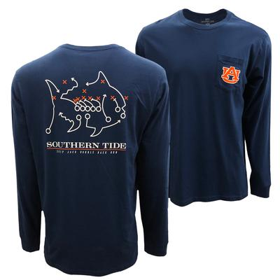 Auburn Southern Tide Long Sleeve Skipjack Play Tee