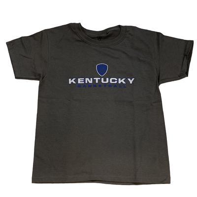 Kentucky Boys Shield Stacked Basketball Tee GRANITE