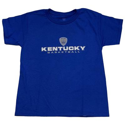 Kentucky Boys Shield Stacked Basketball Tee
