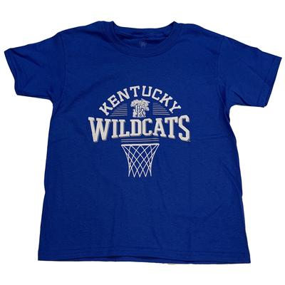 Kentucky Boys Arch Net Basketball Tee ROYAL