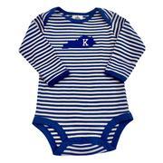Kentucky Infant Long Sleeve Striped Body Suit
