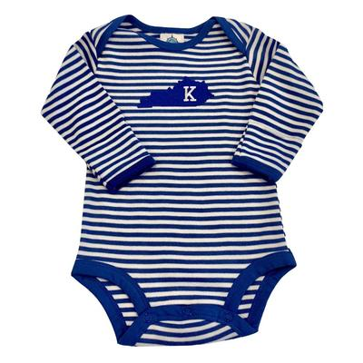 Kentucky Infant Long Sleeve Striped Body Suit