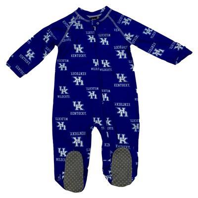 Kentucky Infant Raglan Zip PJs