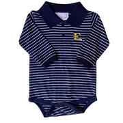 Etsu Infant Striped Long Sleeve Golf Creeper