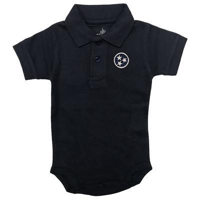 Tristar Infant Solid Navy Polo Creeper
