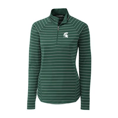 Michigan State Cutter & Buck Women's Evie 1/2 Zip Pullover