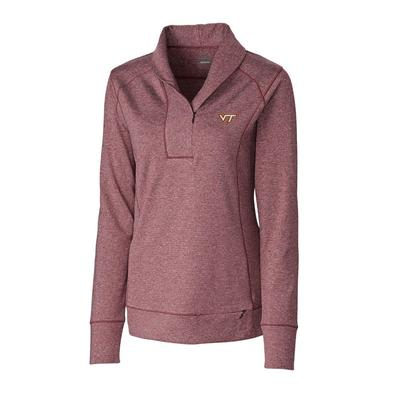 Virginia Tech Cutter & Buck Women's Shoreline Half Zip Pullover