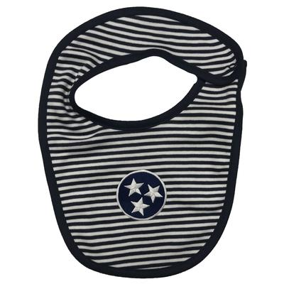 Tristar Infant Navy Striped Bib