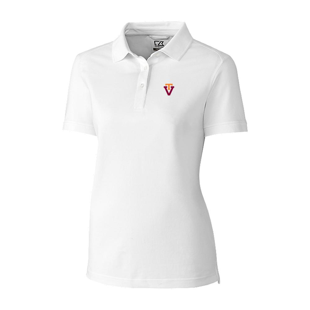 Virginia Tech Cutter & Buck Women's Advantage Drytec Vault Polo