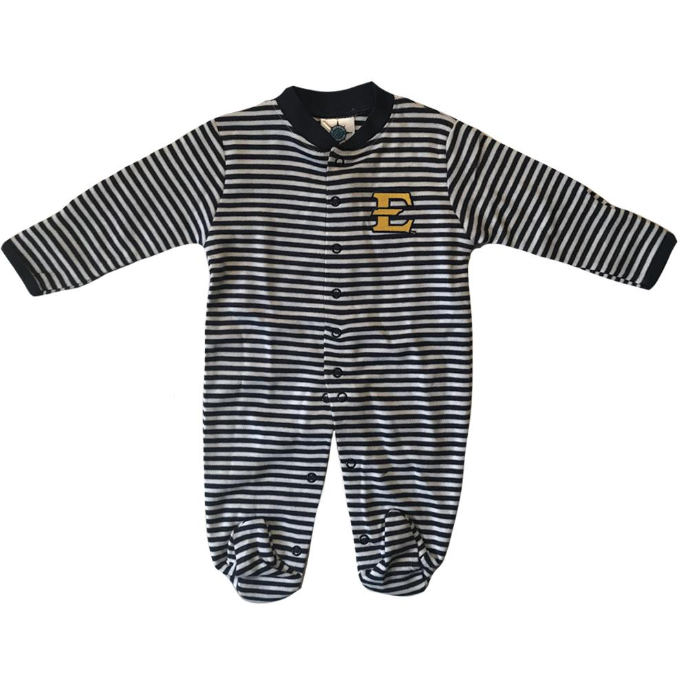 Etsu Infant Striped Footed Romper