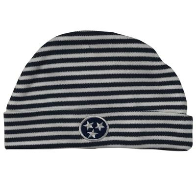Tristar Infant Navy Striped Knit Cap