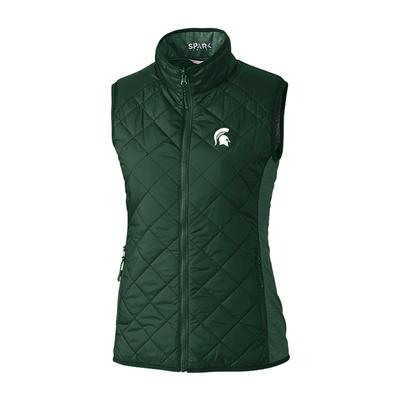 Michigan State Cutter & Buck Women's Sandpoint Quilted Vest