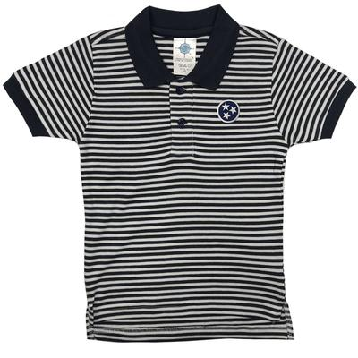 Tennessee Toddler Navy Tristar Striped Polo Shirt