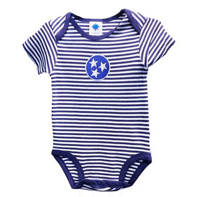 Tennessee Infant Navy Tristar Striped Body Suit