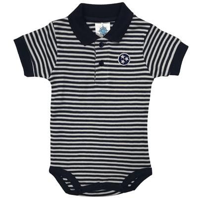 Tennessee Infant Navy Tristar Striped Polo Onesie