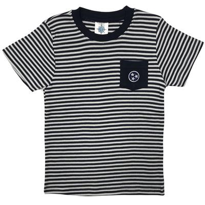 Tennessee Toddler Navy Tristar Striped Pocket Tee