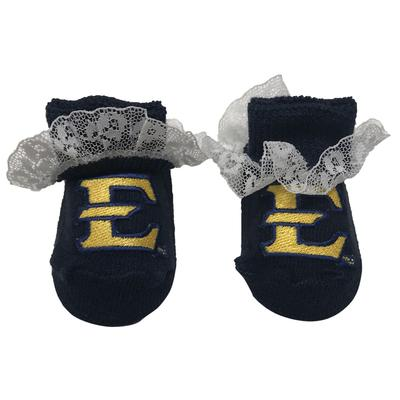 ETSU Infant Lace Gift Box Booties