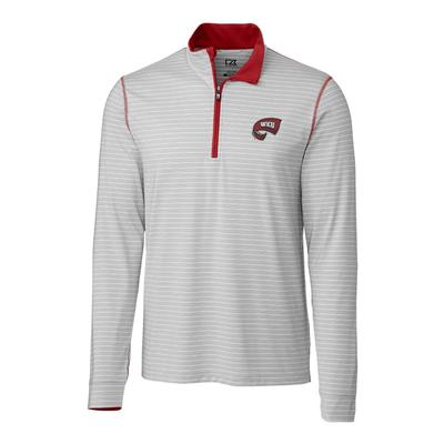 Western Kentucky Cutter & Buck Meridian Half Zip Pullover CARD_RED