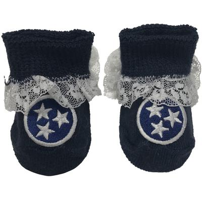 Tristar Infant Lace Gift Box Booties