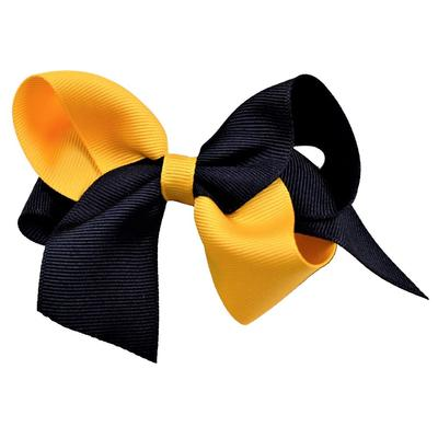 Navy and Gold Classic Fluff Bow