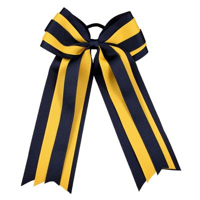 Navy and Gold Moroccan Long Ponytail Hair Bow