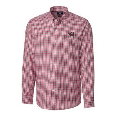 Georgia Cutter & Buck Lakewood Check Woven Dress Shirt