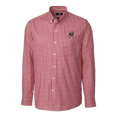 Georgia Cutter & Buck League Gingham Woven Dress Shirt