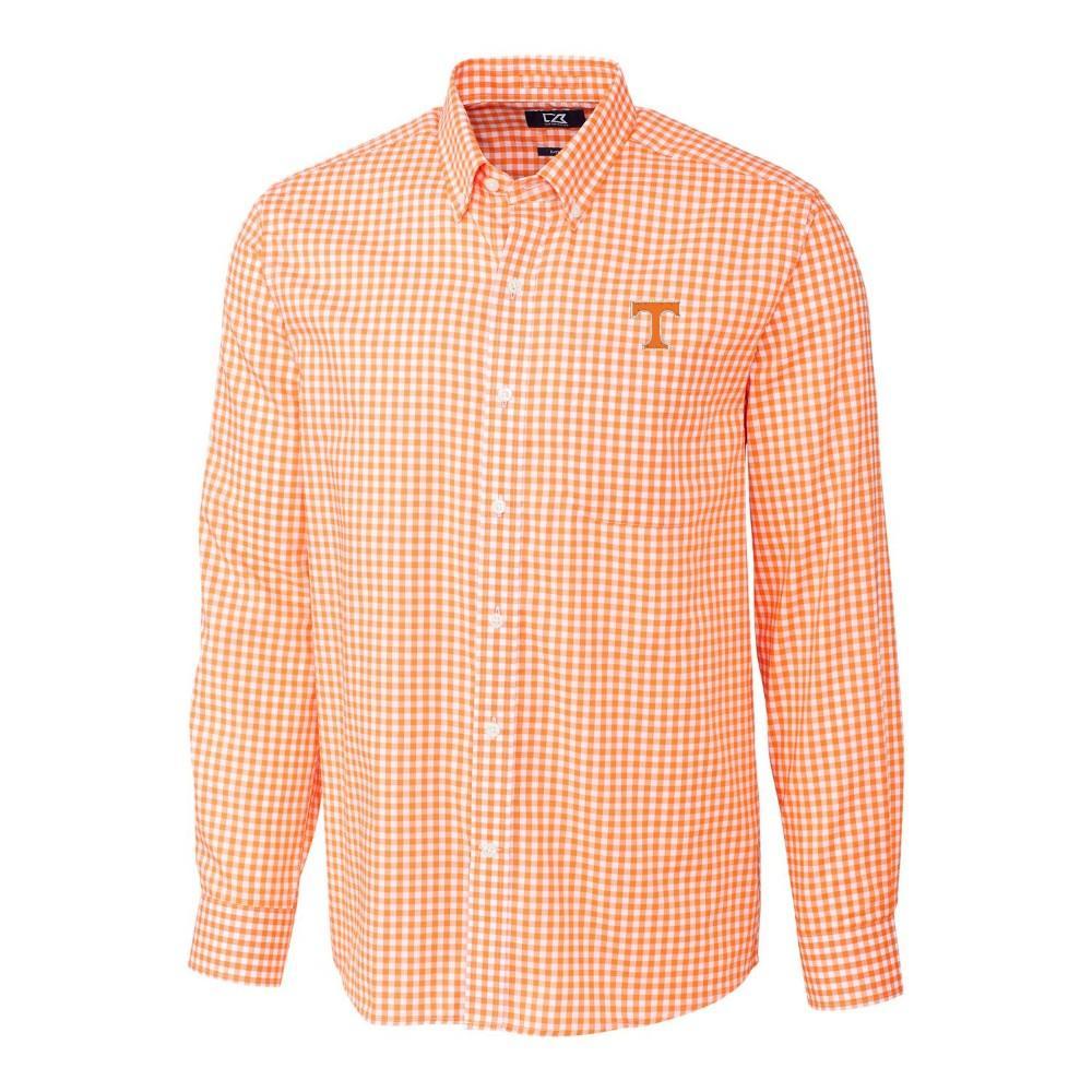 Tennessee Cutter & Buck League Gingham Woven Dress Shirt