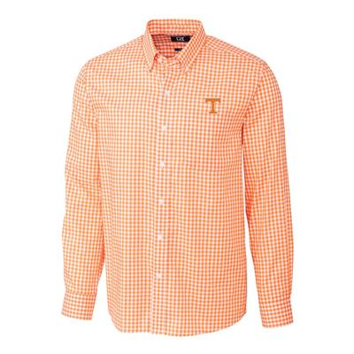 Tennessee Cutter & Buck League Gingham Woven Dress Shirt