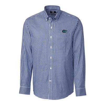 Florida Cutter & Buck League Gingham Woven Dress Shirt