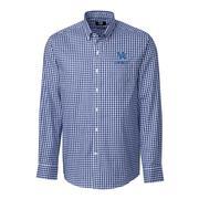 Kentucky Cutter & Buck League Gingham Woven Dress Shirt