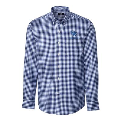 Kentucky Cutter & Buck League Gingham Woven Dress Shirt