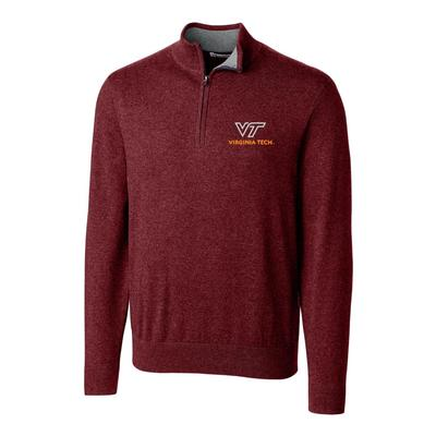 Virginia Tech Cutter & Buck Lakemont Half Zip Pullover