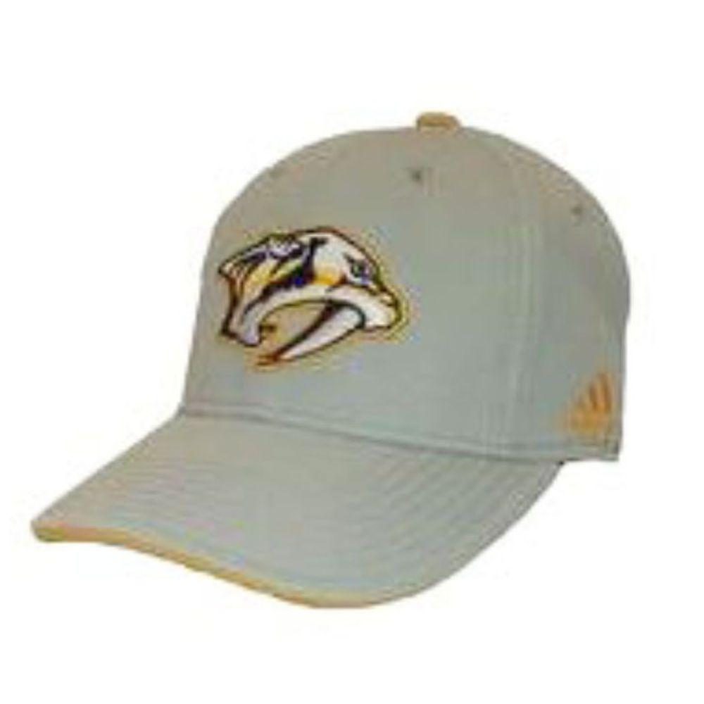 Adidas Men's Nashville Predators Logo Stretch Flex Hat