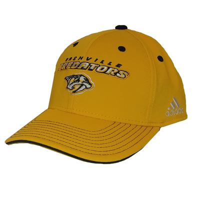 Adidas Men's Nashville Predators Logo Adjustable Hat