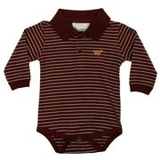 Virginia Tech Infant L/S Stripe Golf Creeper