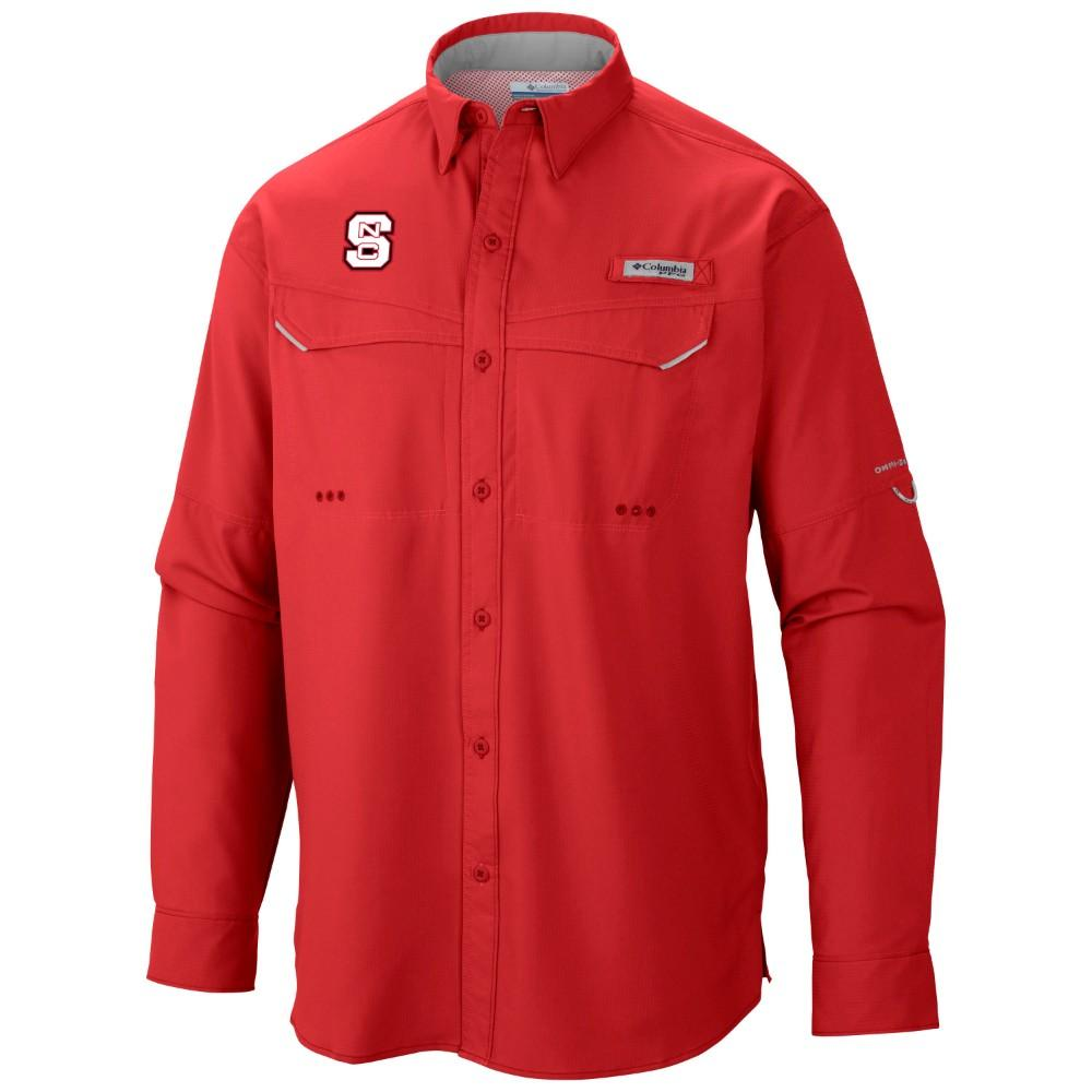 Nc State Columbia Low Drag Off Shore Long Sleeve Woven Shirt
