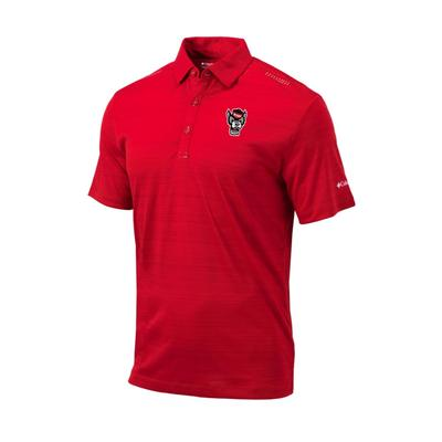 NC State Columbia Golf Printed Dot Polo