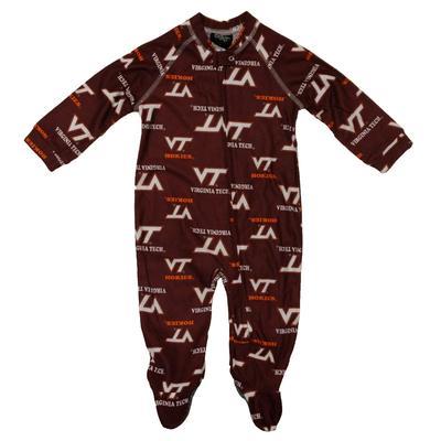 Virginia Tech Infant PJ Zipper Coverall
