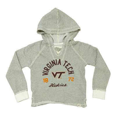 Virginia Tech Youth Girls Striped French Terry Hood