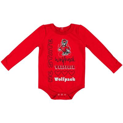 NC State Colosseum Infant Long Sleeve Onesie