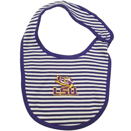 Lsu Infant Striped Bib