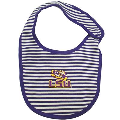 LSU Infant Striped Bib