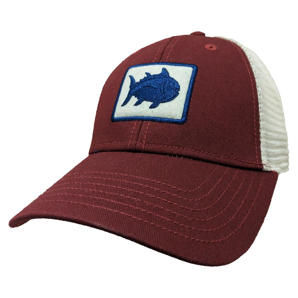 Maroon Southern Tide Fly Patch Tracker Hat