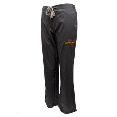 Virginia Tech Women's Flare Leg Scrub Pants