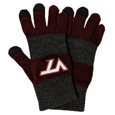 Virginia Tech Trixie Strip Smart Touch Gloves